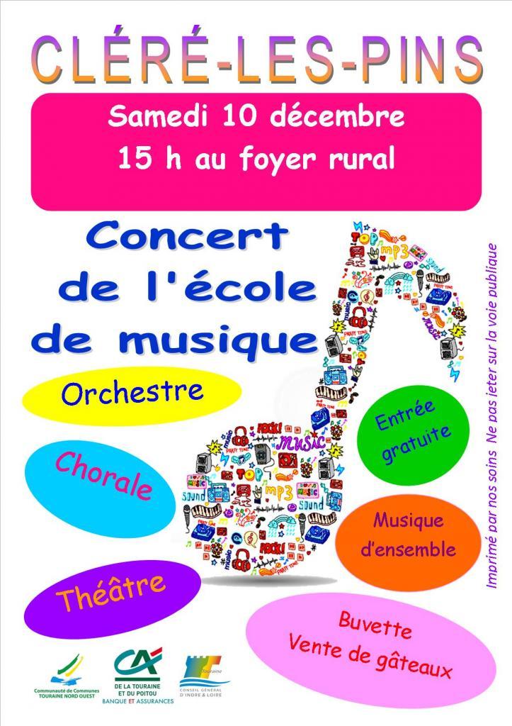 Affiche Concert cléré 10 12 2016
