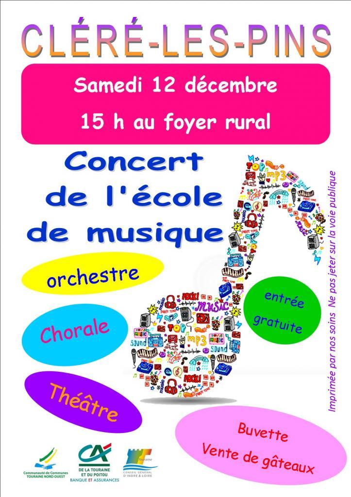 Affiche Concert cléré 12 12 2015