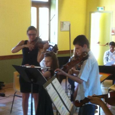 Trio violons et flûte concert de Souvigné